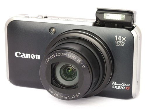 Canon Powershot SX210 IS Digital Camera in Black